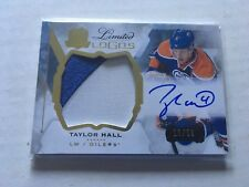 2015-16 THE CUP TAYLOR HALL AUTO /50 AUTOGRAPH LIMITED LOGOS JUMBO PATCH
