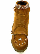 SoftMoc Womens Trinity chestnut Suede Wedge Moccasins  Size 10 Usa.
