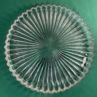 "Vtg Large 1940-50's AA Importing Ribbed Pattern 13"" Cake Round Serving Platter"
