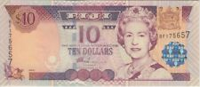 Fiji Islands Banknote P106a 10 Dollars (2002), QE II,   UNC