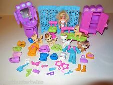 FASHION POLLY POCKET WORLD FIGURE PET DOG TRENDY SALON PAWS COMPLETE 2006 LOT
