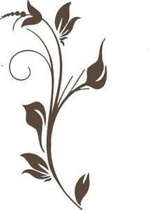 5 ft Flower Vine Elegant  Vinyl Wall decal