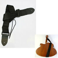 Correa Extremos De Cuero Ajustable Cinturón Bajo Para Guitarra Acústica