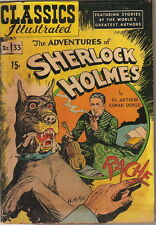Classics Illustrated Comic Book #33 Sherlock Holmes HRN 71 Edition #3 VERY GOOD-