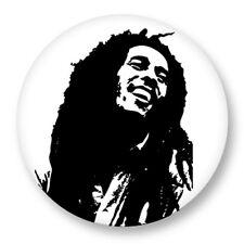 Pin Button Badge Ø38mm Bob Marley Rasta Reggae Jamaique Jamaican Music