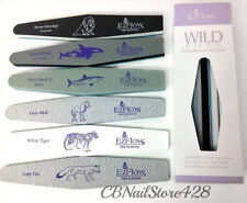EzFlow Nail Systems- WILD FILES - Professional File Sample Pack- 6pcs
