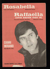 SPARTITO GIANNI MORANDI ROSABELLA/RAFFAELLA (UNA SANTA NON E') VECCHIONI PARETI