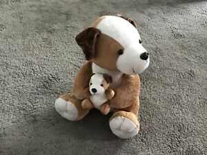 """12"""" Dog With Puppy Brand Bambia Size Medium"""