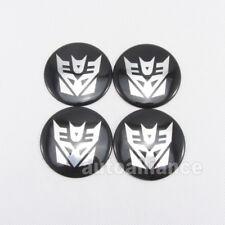 4x Car Transformer Decepticons Logo Wheel Center Hub Cap Badge Sticker Decal