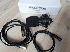 Pronomic CM-100GB Kondensatormikrofon incl. Spinne und XLR Kabel