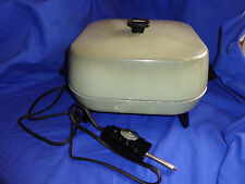 Sunbeam Electric Skillet Fp-Be 425A Fry Pay Avocado Green Non Stick Aluminum Vtg