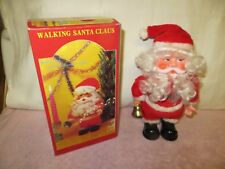 Vintage Battery Operated Walking Santa Claus in Box - Plays Music - READ DESC.