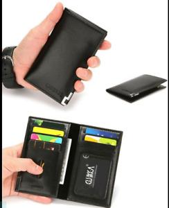 Men Bifold Leather Slim Long Wallet ID Credit Card Holder Money Clip Men's Purse