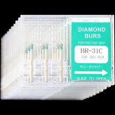 10 Boxes BR-31C MANI DIA-BURS Dental High Speed Handpiece Coarse Diamond Burs