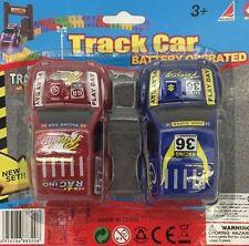 Conjunto de pista de coche variable flexible con batería de reemplazo 2 niños coche