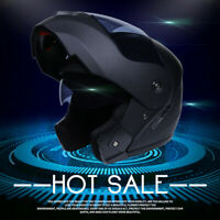DOT Modular Flip Up Motorcycle Helmet Full Face Dual Visor Moto Street Bike S