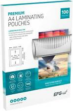 More details for 100 x a4 laminating pouches gloss laminator laminate sheets sleeves 150 microns