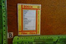 Alter Aufkleber Autohaus Werkstatt BOSCH Stuttgart Serviceaufkleber Filter