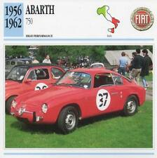 1956-1962 ABARTH 750 Classic Car Photo/Info Maxi Card
