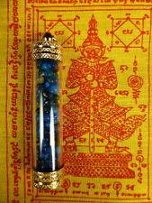SARIRA BLUE PEARLS/ ROSES /PHRA TATH / THAD BUDDHA RELIC AMULET / WAT MAHATHAT