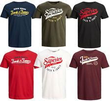 Jack and Jones Herren T Shirt Rundhals Shirts Tee Slim Fit Regular Kurzarmshirt