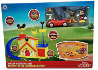 Disney Store Mickey Mouse House Playset With Pluto's Car