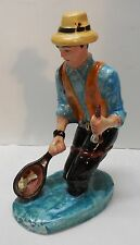 Fisherman Wader Decanter with Net Fish Veneto Flair LTD Hand Crafted Italy 1970