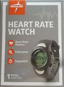 Medline Heart Rate Watch with Activity Tracker Alarm Stopwatch and Backlight