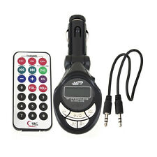 LCD Auto MP3 Player Wireless FM Transmitter Radio Modulator USB SD CD MMC Remote
