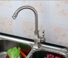 Unique Style Brushed Steel Monobloc Swivel Spout Kitchen Mixer Tap tsw0019