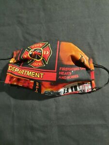 Fire Department Face Mask Washable, Reausable And 100% Cotton