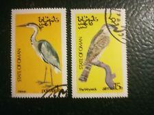 N°146 - 2 timbres oman oiseaux env 1970