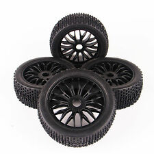 4X Rubber Off-Road Tires&Wheel Rim 17mm Hex For HSP Traxxas RC 1:8 Buggy Car
