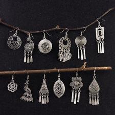 Fashion Boho Women Gypsy Ethnic Style Hook Earring Tibetan Silver Women Earrings