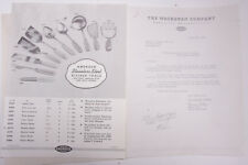1940 Lamson Goodnow Washburn Co Worcester MA Androck Steel Tools Ephemera P599C
