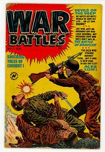 JERRY WEIST ESTATE: WAR BATTLES #1 (Harvey 1952) VG condition NO RES