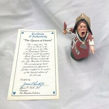 Vintage Alice in Wonderland The Queen Of Hearts Pewter Figurine Hamilton Rare