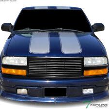 Topline For 1988-2004 S10 Blazer/Pickup Horizontal Front Bumper Grille -Matte Bk