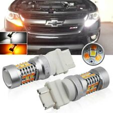 Xenon Dual-Color Switchback LED Turn Signal Parking DRL Light Bulb Kit Universal