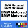 4x BMW Motorrad Vinyl Decal Sticker Autocollant Aufkleber Adesivi Pegatina