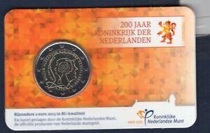 BU 2 euro Commémo Pays Bas 2013 Royaume des Pays Bas Coincard Nederland