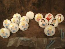 Licensed Disney Princesses Lot Of 13 Ceramic Drawer Knobs Pulls Handles