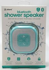 ATOMI Bluetooth Shower Speaker Water Resistant Wireless Teal Portable Microphone