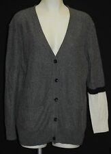 C by BLOOMINGDALES 100% Cashmere Charcoal Cardigan L $248 NWT FREE SHIPPING