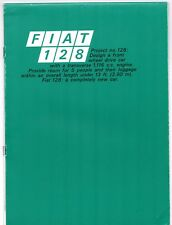 Fiat 128 1100 2-dr & 4-dr Saloon 1970-71 UK Market Sales Brochure
