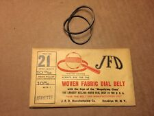 NOS Antique JFD Fabric Radio Dial Belt Number 21 GUARANTEED for Lafayette