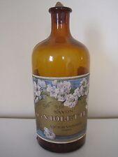Vintage Amber Bottle with Vtg Victor Vaissier, Paris, Savon a La Violette Label
