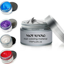 5 Colors Hair Wax Temporary Gray Hair Wax Easy Grey Hair Wax Mud 120ml