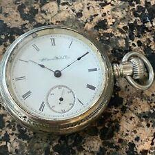 Pocket Watch In Nickel Silver Case Vintage 1910 Illinois Grade 59 18s 15j