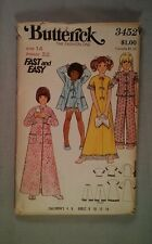 Butterick 3452 sewing  pattern  Girls  Child Pajama Robe Size 14